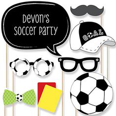 GOAAAL! - Soccer - Baby Shower Photo Booth Props Kit - 20 Props