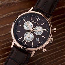 Gigandet CLASSICO Herren Chronograph Armbanduhr Datum Lederarmband Braun G6-009