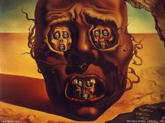 4. The face of war, 1940 - The agony of war was a great inspiration to Dali. He believed his paintings to be premonitions of war, and this particular work was created in between the Spanish Civil War and Second World War.
