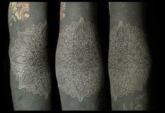 blackwork+white ink over