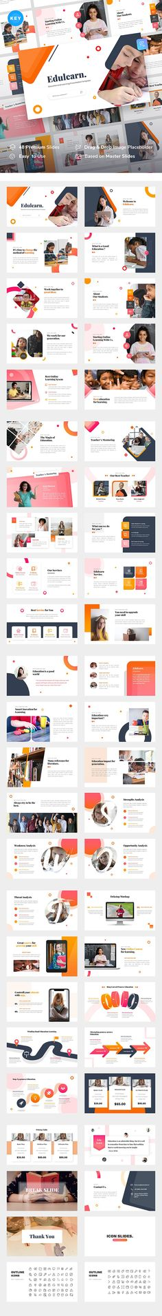 Buy Edulearn – Education and Learning Keynote Template by RabbStock on GraphicRiver. Introduce Edulearn – Education and Learning Keynote Template Edulearn is a multipurpose Education Keynote template t. Business Presentation Templates, Corporate Presentation, Presentation Design, Powerpoint Template Free, Keynote Template, Education Templates, Envato Elements, Free Web Fonts, Learning