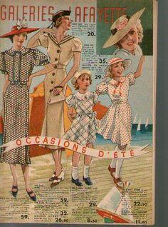 Catalogue Ancien 1925 Mode Rare Paris Galerie Lafayette
