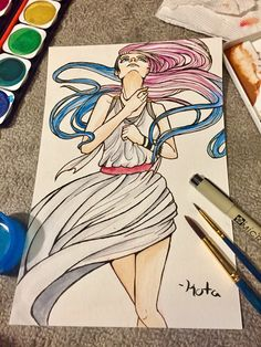 """Day 23/30 """"draw fan art/yourself/OC as a supernatural being"""" Arona is a Greco-Roman Goddess! Don't ask me which one, I'm not a mythology major XD But I'm pretty sure she'd be Artemis/Diana 30 day challenge created by: GanymedeZero.deviantart.com Hi! Thanks for checking this out! If you'd like to see more, check it out on my other social media (info in my bio)! Your support is AWESOME! Thank you for everything you do!"""