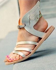 Darling metallic winged sandals http://rstyle.me/n/mmyq5nyg6