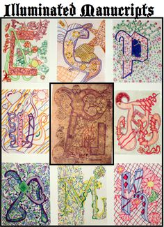 Illuminated Letters inspired by the Book of Kells | Bradley ... picture only, but very inspiring