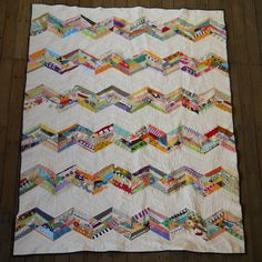 scrappy zig zag quilt With link to one of the best tutorials I have read.....