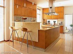 zdjęcia kuchni barek i hokery