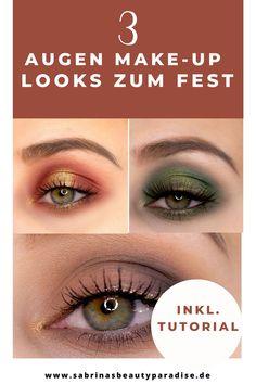 Augen Make-up Look Inspiration für Weihnachten. Makeup Look Ideen für die Augen inklusive Step by Step Schminkanleitung. Einfache Augen Makeup Looks, die jeder nachschminken kann. Festliche Looks für Weihnachten.