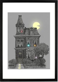 Haunted by the 80s by Terry Fan, 30 x 40cm Print from Made.com. Multi-Coloured. Award-winning illustrator, Terry Fan, finds inspiration in storybook..