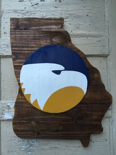Georgia Southern Pallet Wood State by KenlysCreations on Etsy