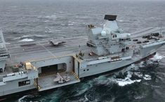 HMS Queen Elizabeth sets sail from Portsmouth Royal Navy Aircraft Carriers, Navy Carriers, Hms Queen Elizabeth, Queen Elizabeth Carrier, Hms Prince Of Wales, Capital Ship, British Armed Forces, Navy Ships, Set Sail