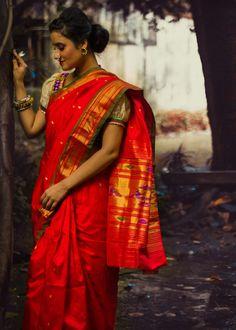 Pure Silk completely hand-woven traditional Paithani sarees from Maharashtra