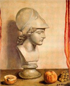 Bust of Minerva - Giorgio de Chirico, 1947. Private Collection