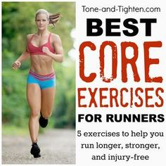 Best Exercises For Runners – How To Train Your Core For Your Next Race Stronger core = stronger run. Best exercises for runners from the physical therapist at Tone-and- Fitness Motivation, Fitness Tips, Health Fitness, Best Core Workouts, Fun Workouts, Core Exercises, Interval Running Workouts, Track Workout, Josef Pilates
