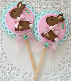 Spring/Easter Chocolate Bunny by sarasscrappin on Etsy