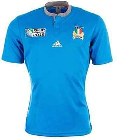 b41dfb3a298 adidas Italy Rugby World Cup 2015 Home Jersey - Blue - BNWT   Shirts   Rugby  Union