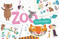 ZOO alphabet by Alena Razumova on @Graphicsauthor