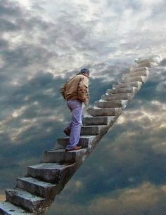 Stairway to heaven. ♥Miss you♥ Grief Tattoo Kind, Missing My Son, Photo D Art, Jesus Pictures, Angels In Heaven, Stairway To Heaven, Colorful Pictures, Random Pictures, Christian Art
