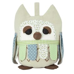 Green Owl Fabric Doorstop