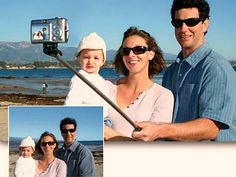 Take selfies like a pro. Use the Extendable Handheld Selfie Stick. Works with most cameras and cell phones with self timer.