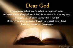 Dear God I Don't Know Who I Am
