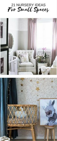 Baby Nursery Ideas for small spaces.Find out our top tips and tricks for making a small nursery look and feel bigger