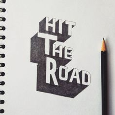 Hit The Road (@a.illustrates) on Instagram: #illustration #typography #handlettering
