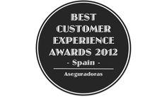 Best Customer Experience Awards, Spain 2012, Categoria, Aseguradoras