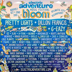 Electric Adventure is pleased to announce BLOOM will take place on August 1st and 2nd in an exciting new location: the Atlantic City oceanfront.