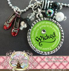 This is a Wizard of Oz customizable necklace that includes coordinating beads (may vary slightly) and a hand painted red slippers charm.