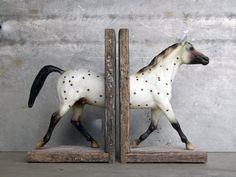 Polka Dot Sculpture Horse Bookend by EQUINEbyLauren on Etsy, $120.00