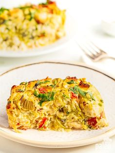 Spicy, tangy, creamy and Paleo – all the things you want from a buffalo chicken casserole!