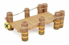Wooden Pier Dock For Miniature Fairy Gardens