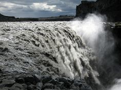 Waterfall Iceland.