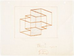 osef Albers, Study for Multiplex D, 1948 (ca.)  Pencil on paper. JAAF: 1976.3.679  21.59 x 27.94 cm (8.5 x 11 inches)