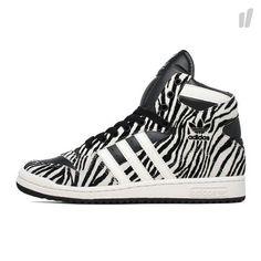 reputable site 5d3e9 4b654 Womens Adidas Decade OG Rare Zebra Sneakers New, Black White G61055 Jeremy  Scott New Sneakers