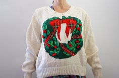 Vintage 80s 90s Ugly Christmas Sweater by SycamoreVintage on Etsy