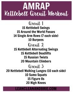AMRAP Kettlebell Circuit Workout | Lean, Clean, & Brie