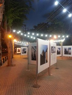 Photo exhibit on streets of Ramat Hasharon, Israel. ..by Fanny Bejar Cohen