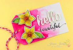 Love this tag by Jeanne using some Simon Says Stamp Exclusives.