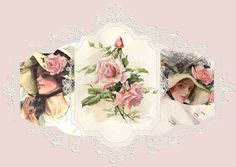 Victorian pillows, ruffled pillows, pillows with roses, pink pillows, lace trimmed pillows,