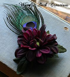 Ciruelo oscuro simple Aster púrpura danza por WendyBethCreations