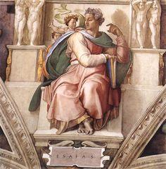 Michelangelo (Italy 1488-1564)- Sistine Chapel Ceiling, The Prophet Isaiah 1509
