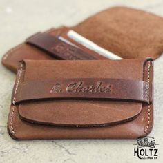 No. 7 Babe Ruth Front Pocket Leather Flap Wallet by HoltzLeather