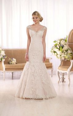 D2002 Tulle Fit-n-Flare Wedding Dress by Essense of Australia