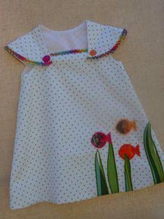 Baby dress pattern easy etsy 20 new Ideas Baby Dress Design, Baby Girl Dress Patterns, Baby Frocks Designs, Kids Frocks Design, Frocks For Girls, Little Girl Dresses, Girls Dresses, Kids Outfits, Baby Outfits