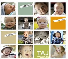 Cute baby book layout using Blurb