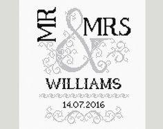 Wedding Cross Stitch Pattern Scheme for di PatternsTemplates                                                                                                                                                                                 More
