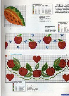 ampliar Cross Stitch Boarders, Cross Stitch Flowers, Cross Stitching, Cross Stitch Patterns, Diy Embroidery, Cross Stitch Embroidery, Embroidery Patterns, Cross Stitch Kitchen, Rico Design