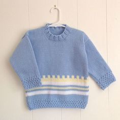 17798f851 2 to 3 years Kids blue sweater Unisex kids sweater · Hand Knitted ...